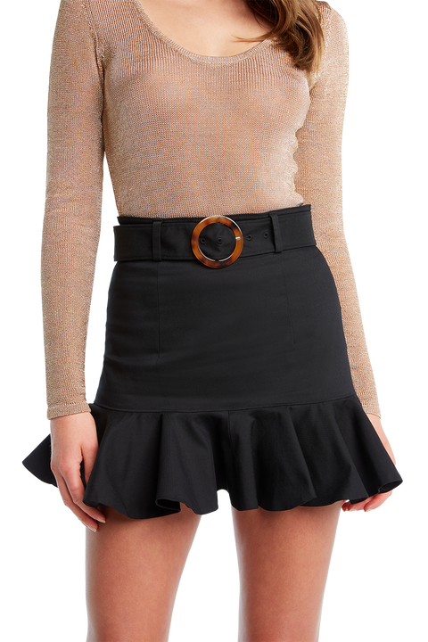 SHIMMER CROP KNIT in colour CARAMEL