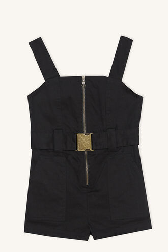 NEL UTILITY PLAYSUIT in colour JET BLACK