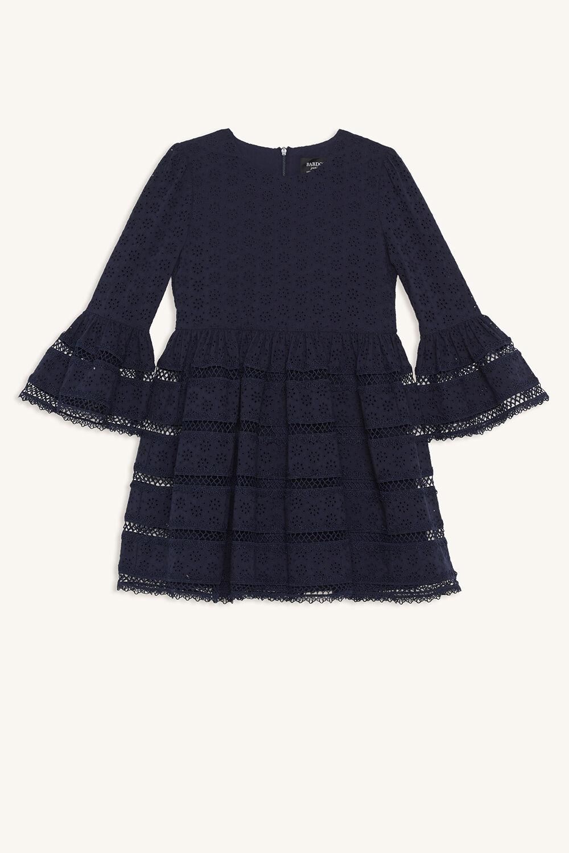 SELMA TRIM DRESS in colour BLACK IRIS