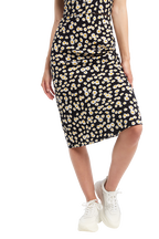 DAISY BIAS SKIRT in colour CAVIAR