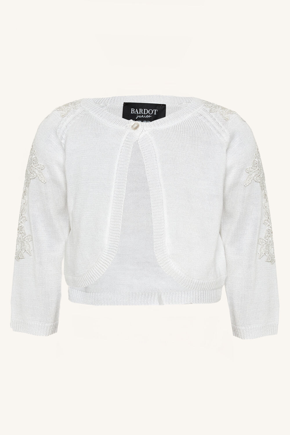 EMROIDERED CARDIGAN in colour BRIGHT WHITE