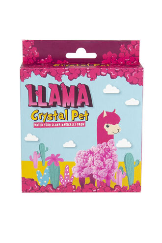 Crystal Llama in colour BRIGHT WHITE