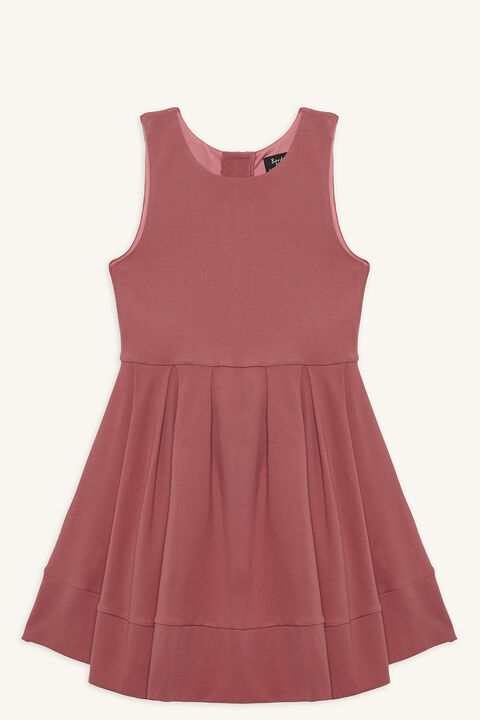 AURELIA HI-LO DRESS in colour DUSTY ROSE