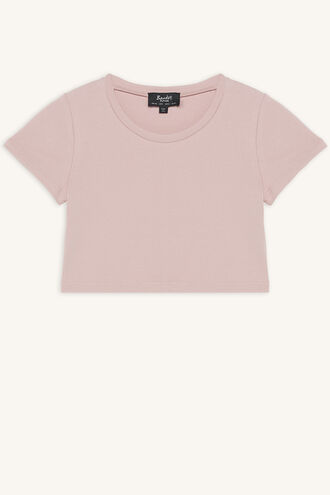 NINA SCOOP TEE in colour SILVER PEONY