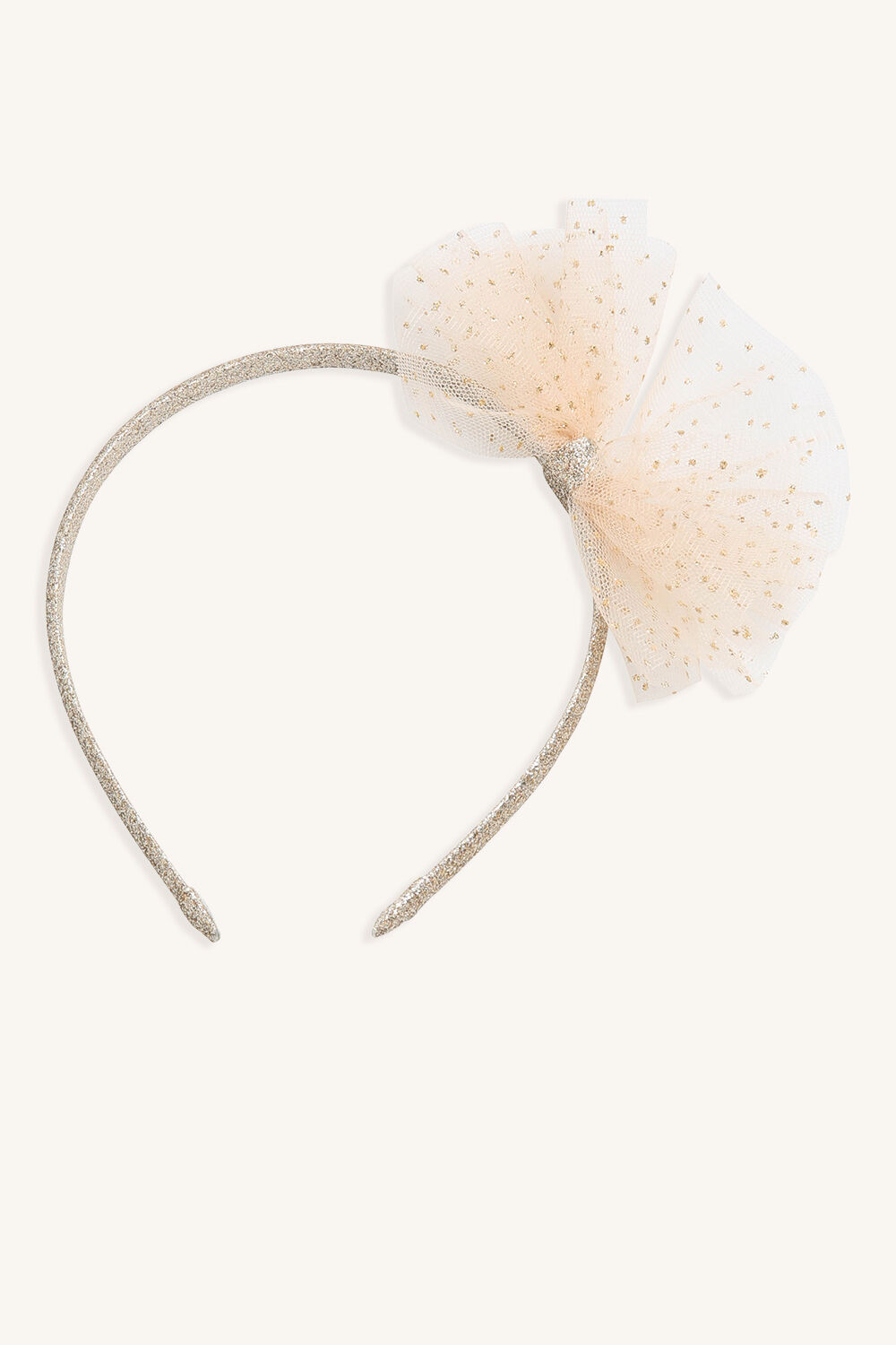 SPARKLE FAIRY BOW HEADBAND in colour GOLD EARTH