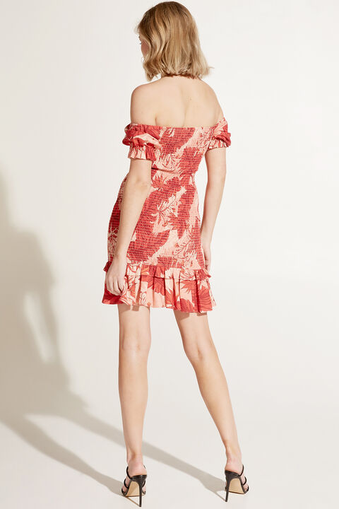 GWEN MINI DRESS in colour MINERAL RED