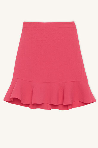 FLUTTER SKIRT in colour FUCHSIA PURPLE