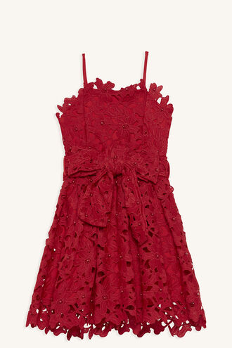 MAY BOW DRESS in colour LOLLIPOP