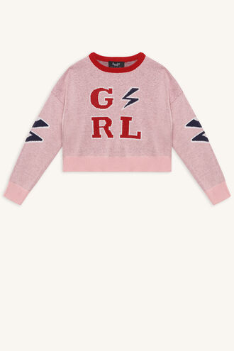GIRL KNIT SWEATER in colour PEACHSKIN