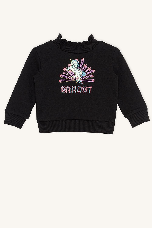 BARDOT UNICORN SWEAT in colour JET BLACK