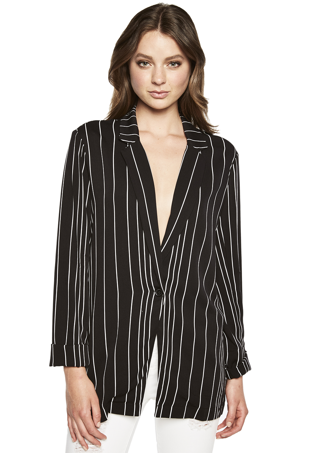 VAL BOYFRIEND BLAZER in colour CAVIAR