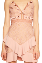 FAE LACE DRESS in colour MELLOW ROSE