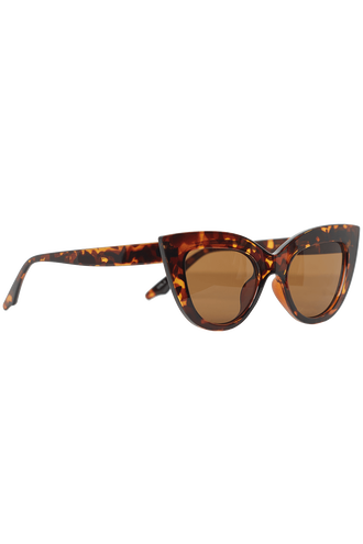 WIDE CAT SUNGLASSES in colour TORTOISE SHELL