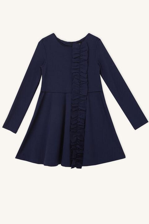 DASHA RUFFLE DRESS in colour BLACK IRIS