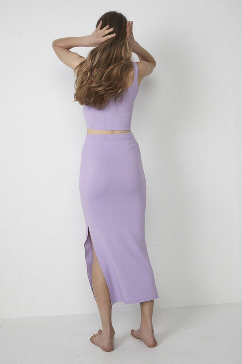 SUSIE KNIT TOP in colour LILAC CHIFFON