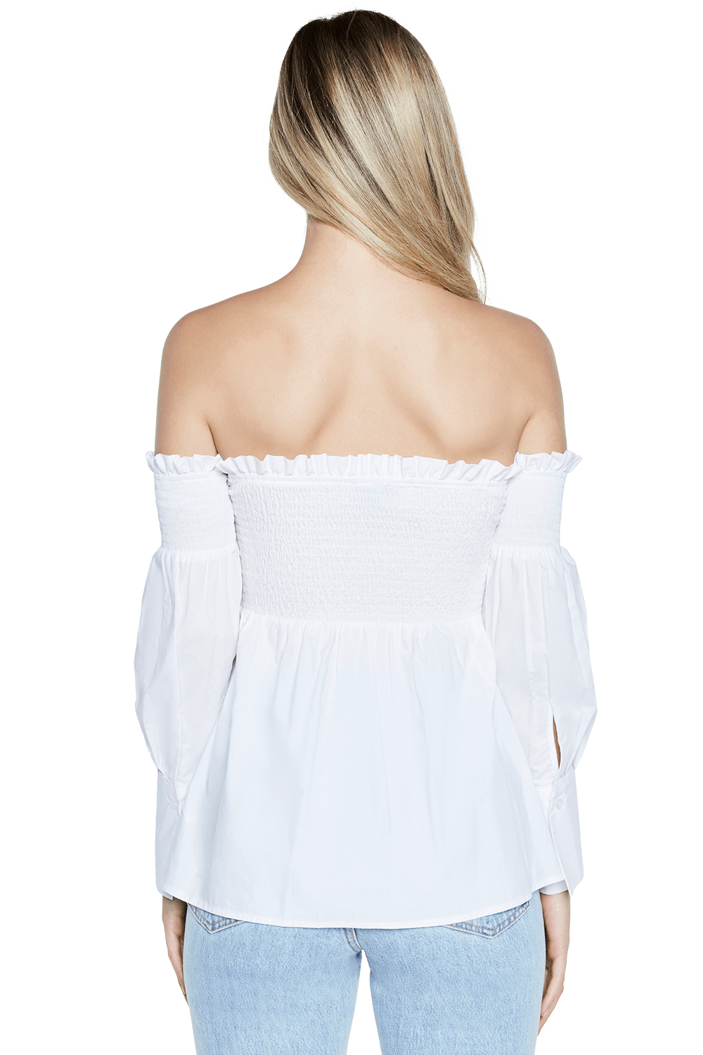 MYA OFF SHOULDER TOP in colour BRIGHT WHITE