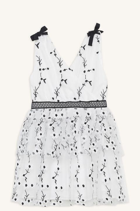 CAROLINA DRESS in colour CLOUD DANCER