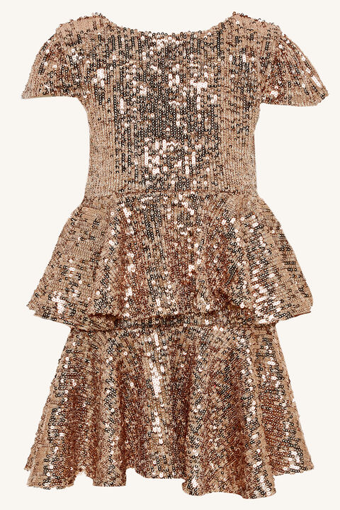 GOLDIE DRESS in colour CARAMEL