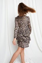 JUNIOR GIRL ZEBRA RARA DRESS in colour TAPIOCA