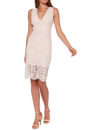 LISA LACE DRESS in colour PARFAIT PINK
