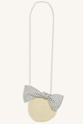 PRETTY BOW SLING BAG in colour BEIGE