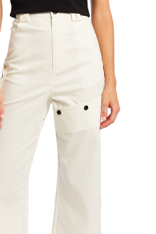 BUTTON COMBAT PANT in colour CLOUD DANCER