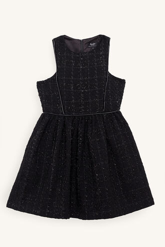 BRYN BOUCLE DRESS in colour JET BLACK