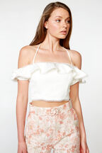 AMIRA TOP in colour CLOUD DANCER
