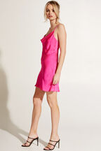 MINI SLIP DRESS in colour SHOCKING PINK