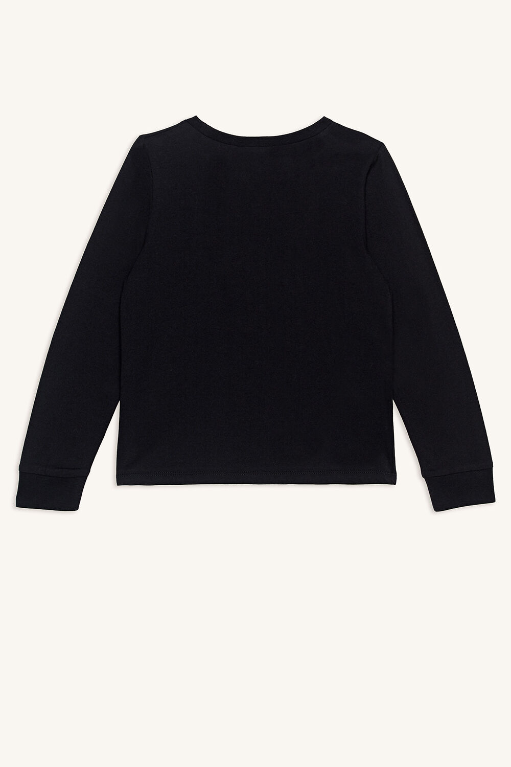ELECTRIC LONG SLEEVE TOP in colour JET BLACK