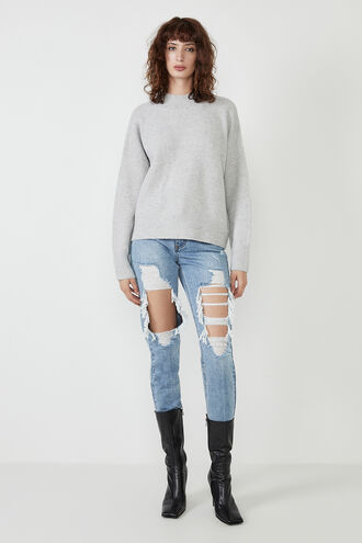 ANNIE OVERSIZED KNIT in colour SMOKED PEARL