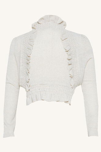 INEZ BOLERO CARDI in colour CLOUD DANCER