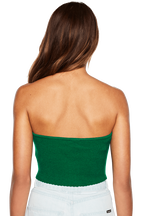 GATHERED RIB BANDEAU in colour CLASSIC GREEN