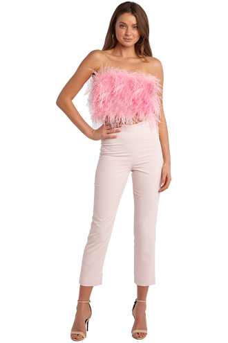 FEATHER BUSTIER in colour DELICACY