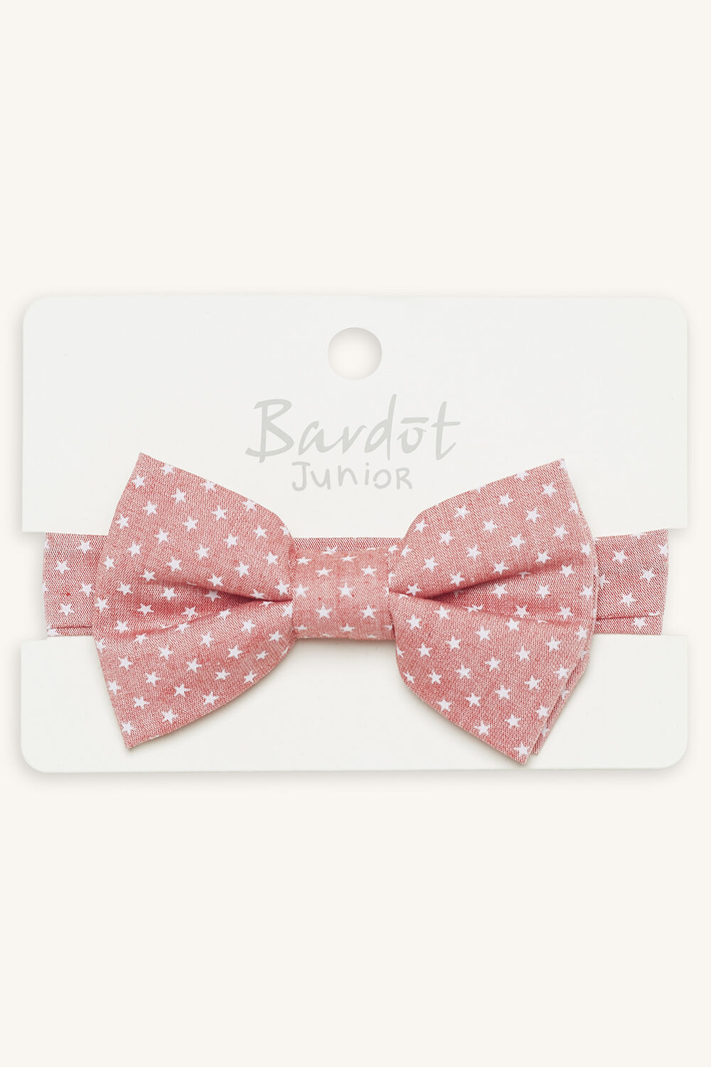 STAR BRIGHT BOW TIE in colour RED BUD