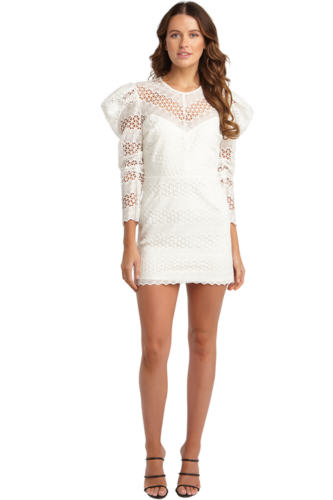 LANA LACE DRESS in colour CLOUD DANCER