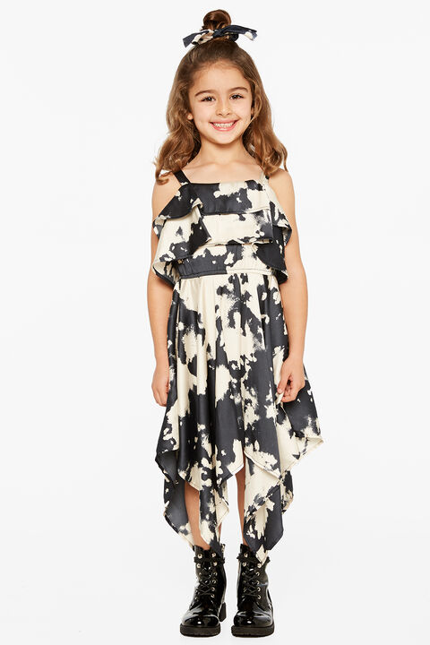 junior girl addy hanky dress in colour MOOD INDIGO