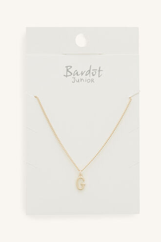 INITIAL NECKLACE in colour GOLD EARTH