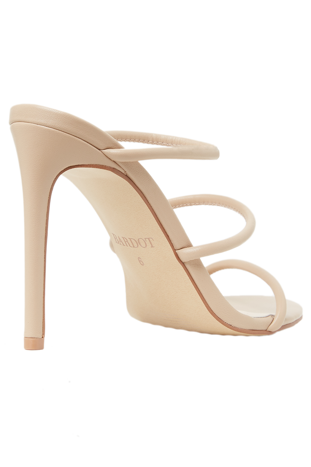 TRI LEATHER STRAP HEEL in colour RUGBY TAN