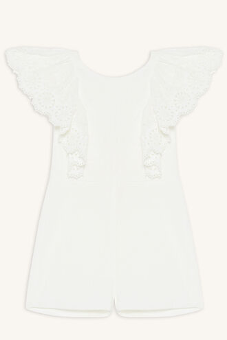 NADIA LACE ROMPER in colour CLOUD DANCER