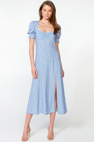MILLIE FLORAL DRESS in colour POWDER BLUE