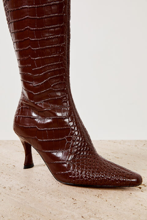THE AMELIE BOOT in colour CHOCOLATE BROWN