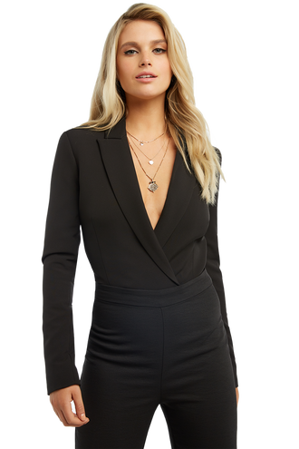 64638ab2a3ca BLAZER BODYSUIT in colour CAVIAR
