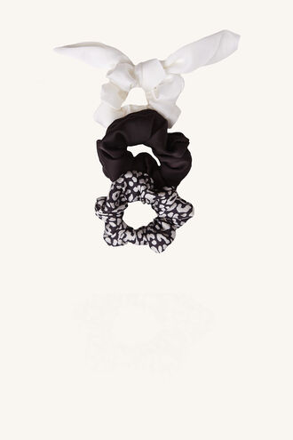 MAYAH 3PK SCRUNCHIE SET in colour ANTELOPE