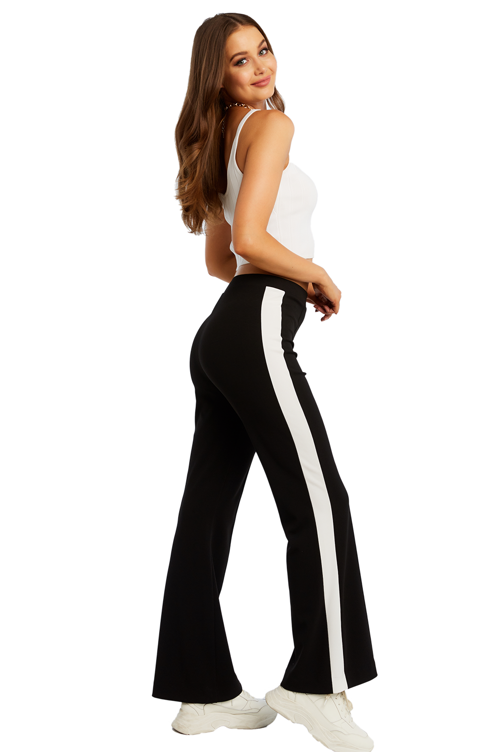 SPORTY KNIT PANT in colour CAVIAR
