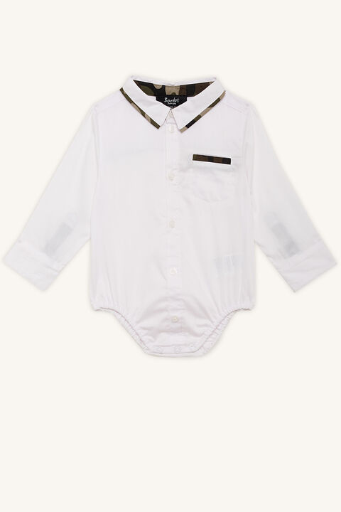 CAMO TRIM SHIRT GROW in colour BRIGHT WHITE