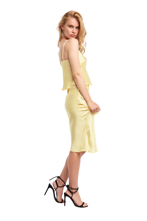MAYAH MIDI SKIRT in colour FRENCH VANILLA