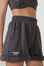 ORGANIC SHORT SWEAT SHORT  in colour JET BLACK