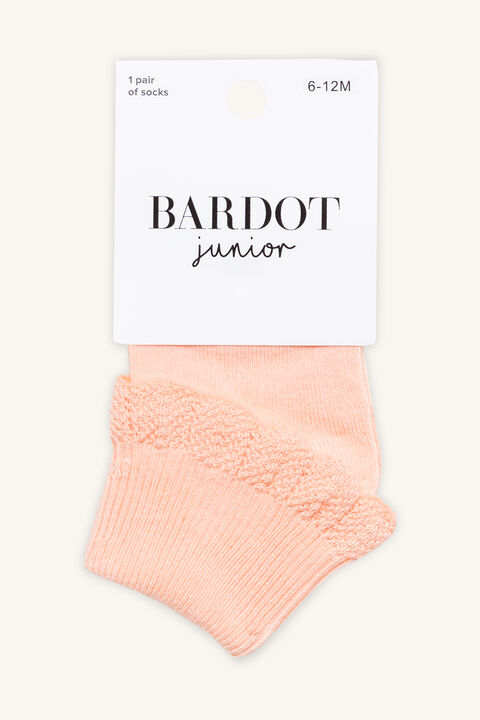 PRETTY FRILL SOCKS in colour PINK CARNATION