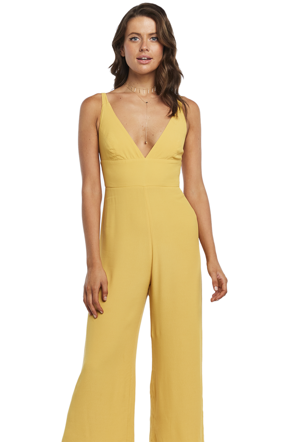 ad045cccd47 LARA WIDE LEG JUMPSUIT in colour MISTED YELLOW